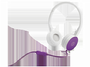 HP 惠普F6J06AA H2800头戴式紫色耳机